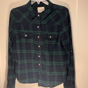 Forever 21 lumberjack plaid Button Up
